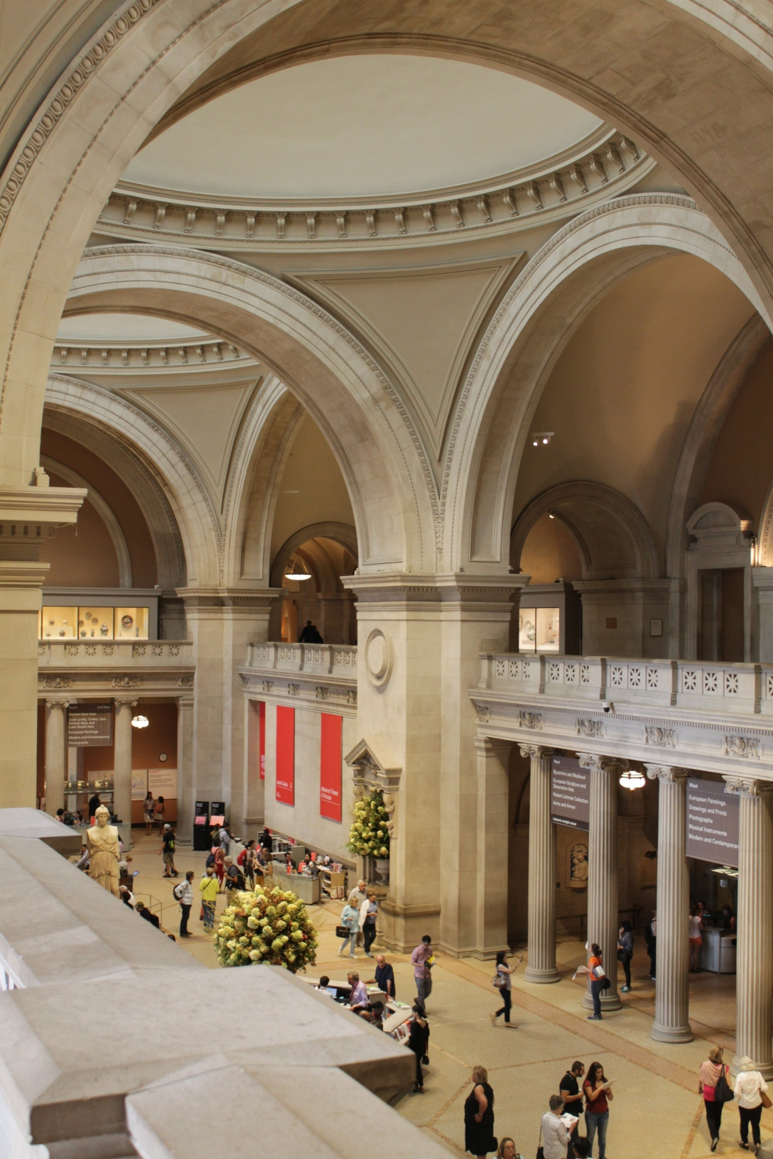 The entrance hall of the Metropolitan Museum of Art, New York City.